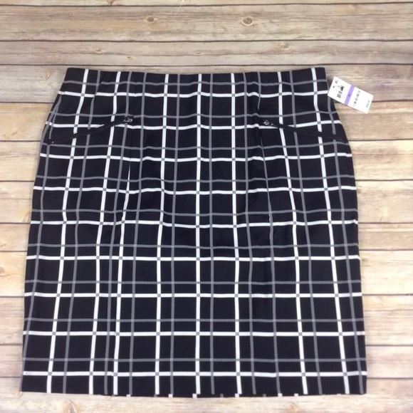 89187233d65c Alfani black checkered square plaid skirt